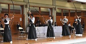 弓道女子、盛岡一9年ぶり優勝 岩手県高校総体