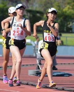 陸上5000女子競歩、渡辺が大会新頂点 佐賀県高校総体