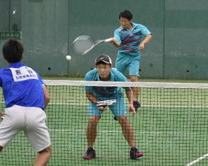 ソフトテニス男子団体工大一制す 青森県高校総体