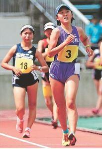 陸上女子5000競歩、木村和初V 東北高校大会