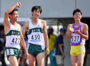 男子400H 、白尾(農二)が大会新V 北関東高校陸上