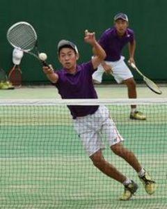 ソフトテニス男子、つるぎ初V 四国高校選手権