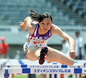 女子100H、島根勢26年ぶり13秒台 中国高校陸上