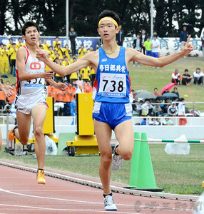 男子800、入江(春日部共栄)が初V 北関東高校陸上