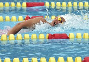 湯本・戸田が男子200自由形で3連覇 福島県高体水泳