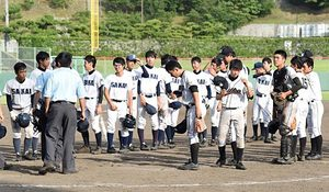 境―米子工再試合 全国高校軟式野球鳥取大会
