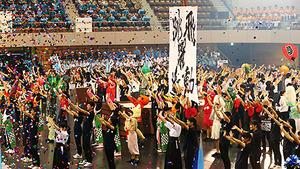 総合開会式・430人の公開演技 南東北高校総体