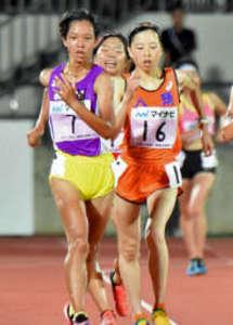 陸上女子5000競歩、阿部3位 南東北インターハイ