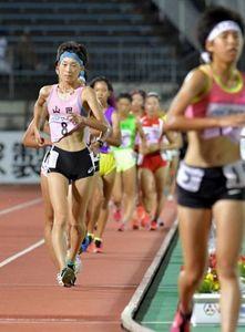 陸上女子5000競歩、浅野(山田高校)2位 全国高校総体
