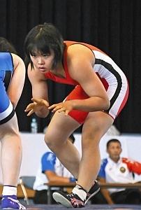 総体 レスリング女子の吉岡が3位