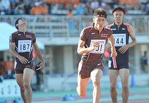 総体 陸上男子1600リレー 盛岡南、8位入賞