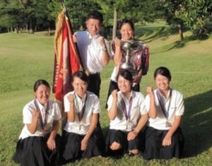 滝川二が女子団体初優勝 ゴルフ全国高校選手権