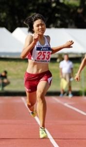 初優勝の松尾、予選1位で手応え 全国選抜女子300m