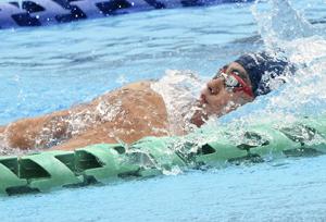 少年男子B100背泳ぎで伹野7位 えひめ国体、自己ベスト更新