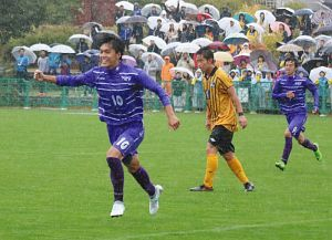 サッカー ベスト4出そろう 長野大会