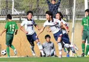 県高校サッカー 滝川第二逆転 後半2得点