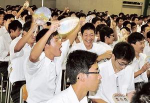 リオパラ・バスケ藤本選手に声援 島田工高生勝利に沸く