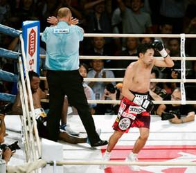山中、歴代2位タイ 11度目防衛 ボクシングWBC世界戦