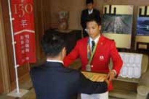 五輪レスリング太田選手、山口県からスポーツ特別褒賞