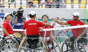 パラ車いすテニス、メダル争った同門4人 同じスクール出身