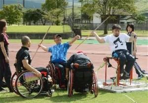 陸上パラ選手30人が阿蘇市で合宿