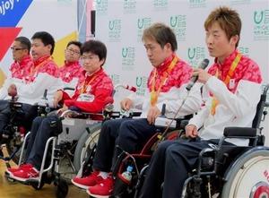 パラのボッチャ日本代表会見 杉村主将「大きな一歩」