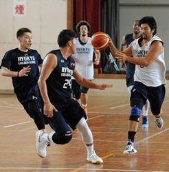 いざ!ホーム初戦 滋賀と対戦 バスケ琉球