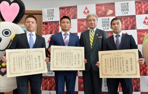 五輪・パラ活躍の3選手 栃木県スポーツ功労賞表彰式