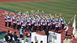 沖縄県選手団、先頭で入場行進 いわて国体が開幕