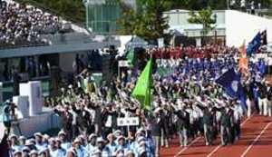 栃木県選手団61人も堂々行進 いわて国体総合開会式