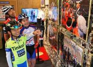 ニュースカフェで自転車ジャパンカップ資料を展示 宇都宮