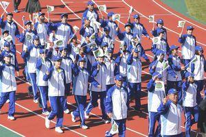 「いわて国体」が開幕 徳島県選手団61人も力強く行進