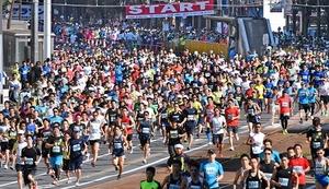 福井マラソン、5910人が力走 暑さ負けずドラマ創る