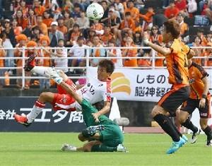J2熊本、8戦ぶり勝利 山口に2-0
