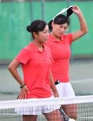テニス・野田学園、第1シードに惜敗 いわて国体