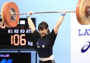岩手国体 重量挙げ女子の八木、リオ記録上回り初代女王