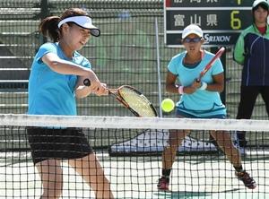 岩手国体 テニス成年女子、3位決定戦へ