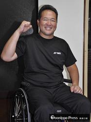 パラ車いすテニスのコーチ橘さん 砲丸投げで東京目指す