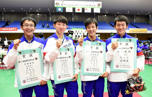 岩手国体 宮崎県初の準優勝 卓球少年男子