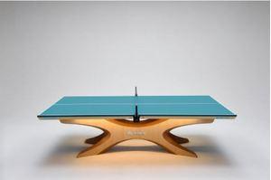 五輪で使用、足寄生まれの卓球台展示 小中生の教室も