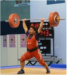 岩手国体 重量挙げ少年男子、奈良(金農高)がジャーク5位