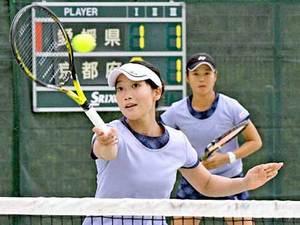 テニス女子、梶谷・西本組が準優勝 岩手国体