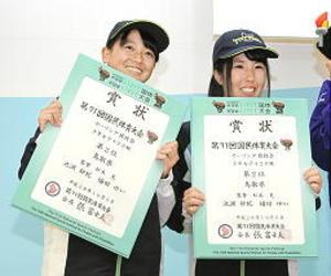 いわて国体 鳥取準優勝、セーリング少女420級