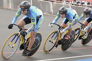 いわて国体 自転車鳥取男子、チームスプリントV