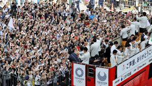 リオの感動ありがとう メダリスト87人が銀座合同パレード