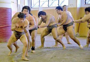 高砂部屋、今年も高知市相撲場で合宿 10/10まで