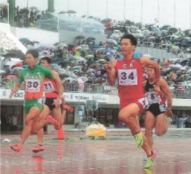 五輪銀メダル・山県選手の走りに沸く 岩手国体