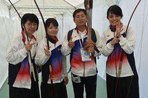 岩手国体 弓道の成年女子近的で沖縄6位