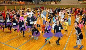 上山で全日本エアロビフェス 参加者1000人以上、ユニーク仮装も