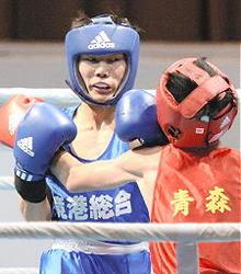 いわて国体 小川(鳥取)圧倒し王座 ボクシング